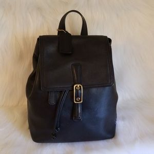 Coach Legacy West Black Leather Backpack
